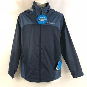 NWT Columbia Men/'s NAVY RAINCREEK FALLS Omni-Shield® Rain Jacket  SMALL S